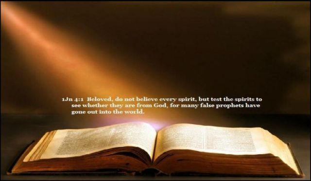 Capture Test the spirits 1 John 4 1
